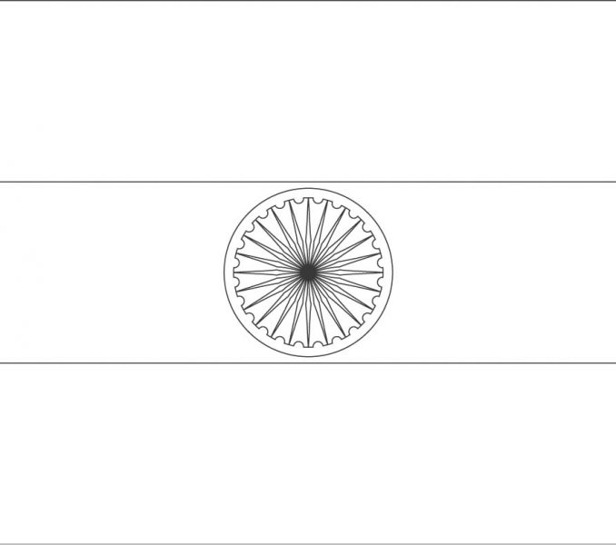 678x600 Image Indian Flag Coloring Page 69 On Free Online With Indian Flag