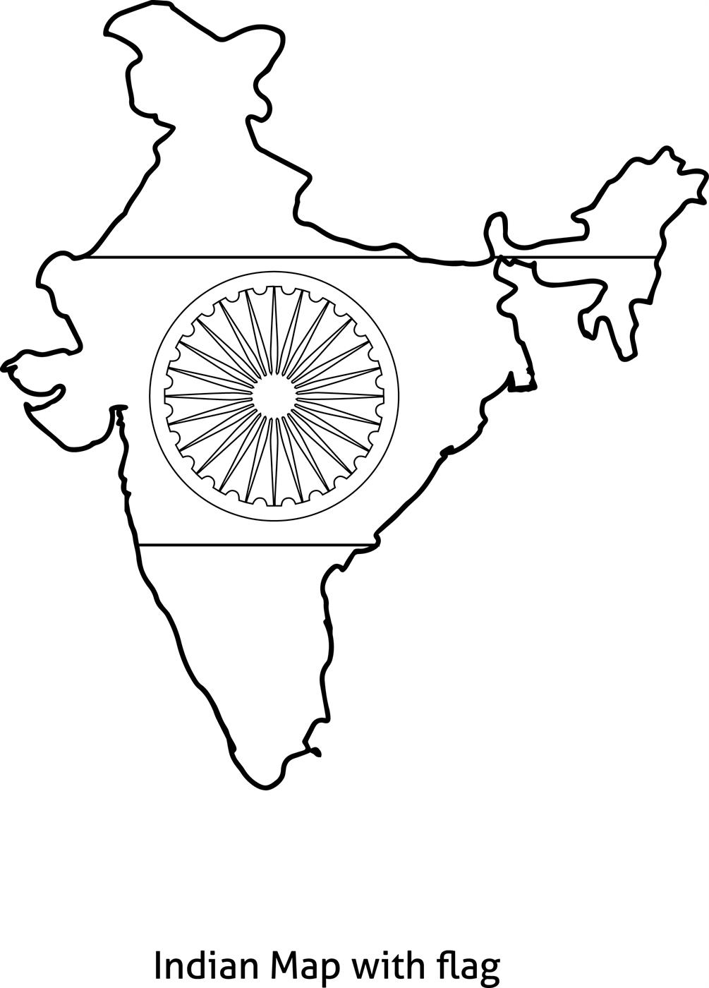 1005x1400 India Coloring Page