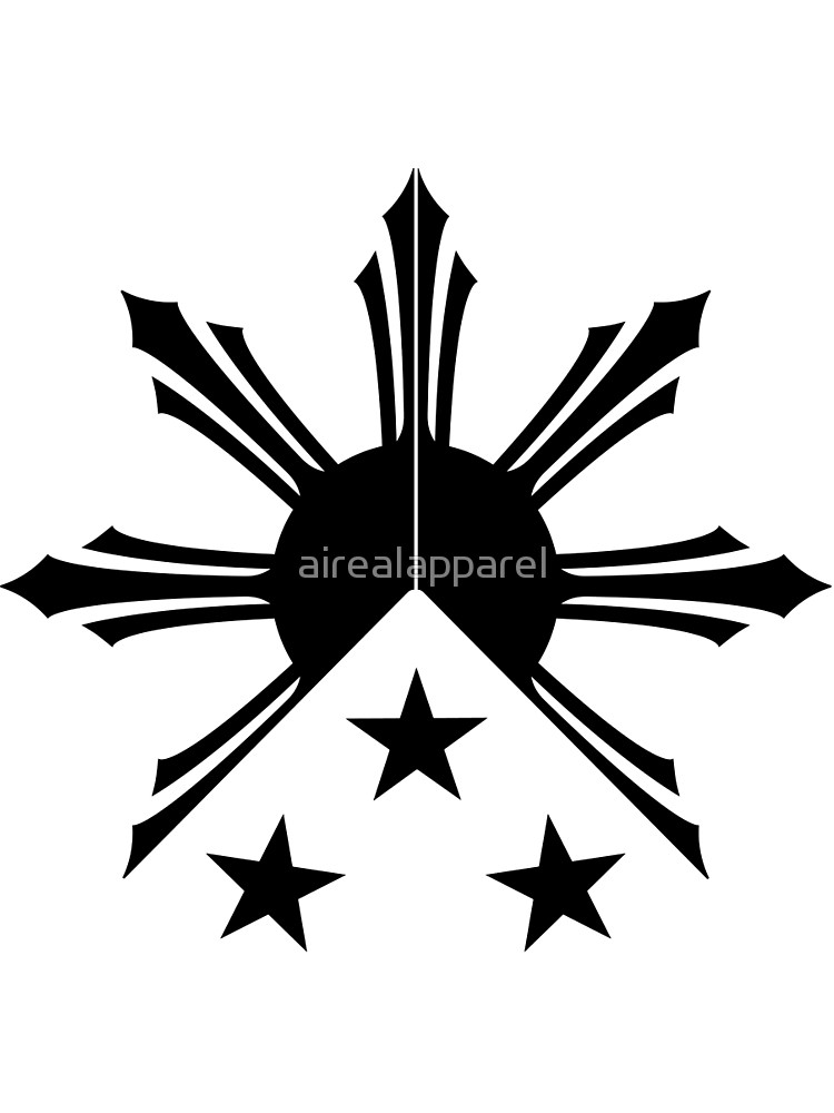 750x1000 Tribal Philippines Filipino Sun And Stars Flag Graphic T Shirt By