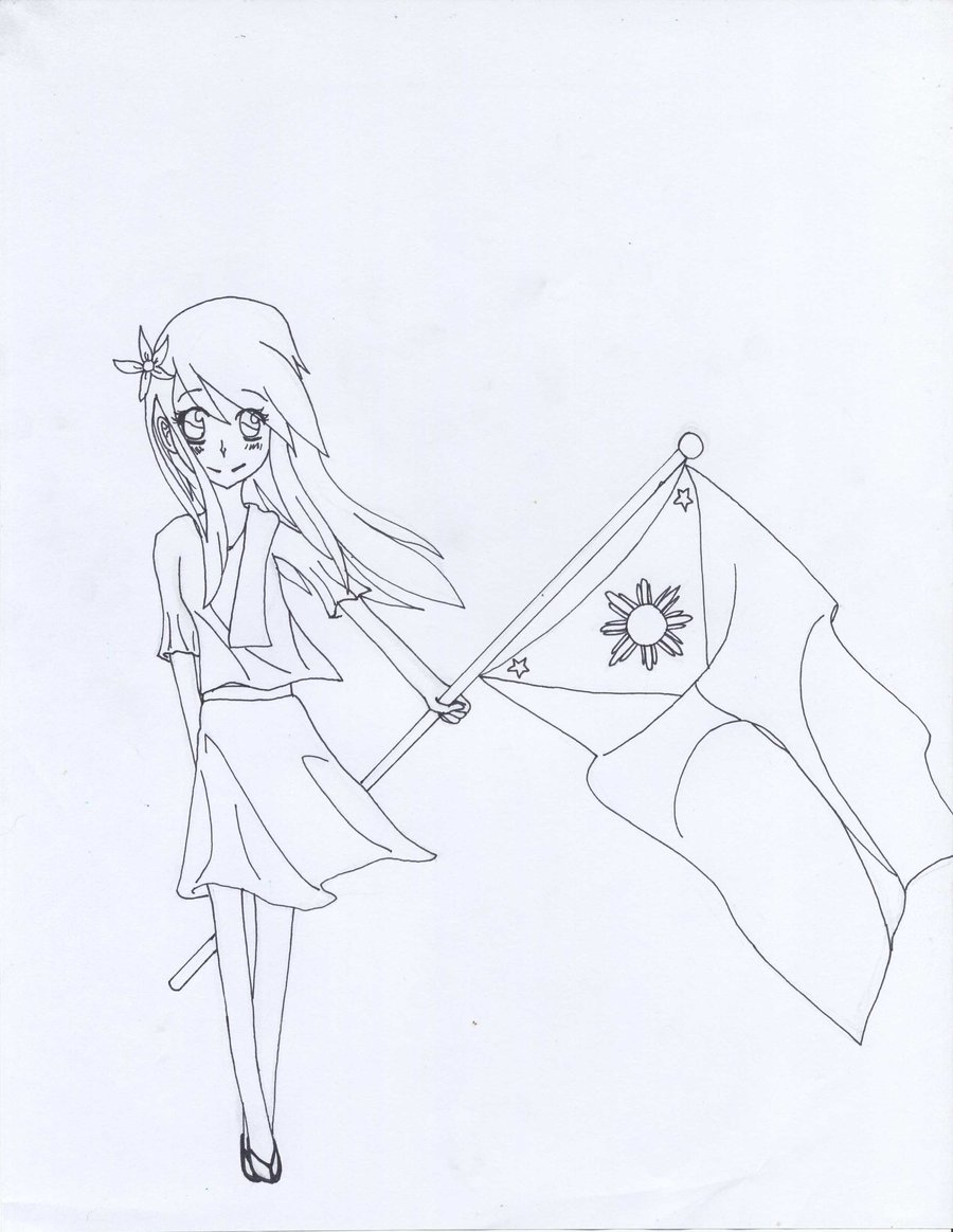 Flag Of The Philippines Drawing at GetDrawings.com | Free for ...