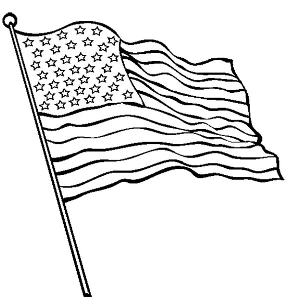 Flag Waving Drawing