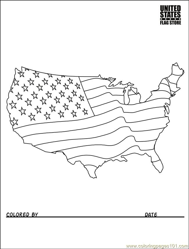 650x855 Usa Flag Coloring Book American Page For Kids