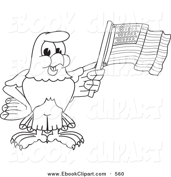 600x620 Vector Clip Art Of A Coloring Page Outline Of A Bald Eagle Hawk