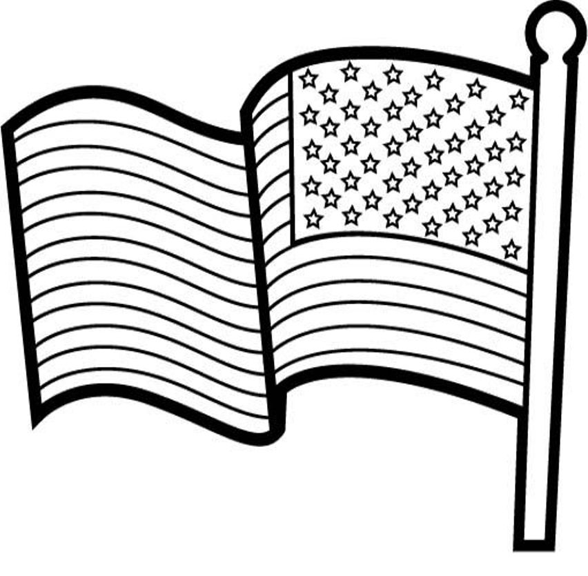 852x835 American Flag Coloring Pictures Many Interesting Cliparts
