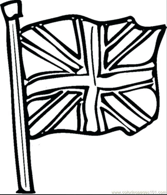 650x756 Great Britain Flag Coloring Page Colouring Sheet Union Jack Flag