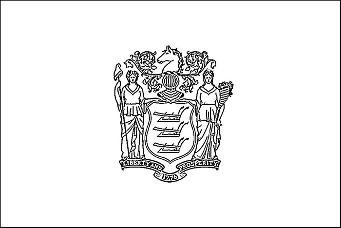 700x468 New Jersey State Flag Coloring Pages