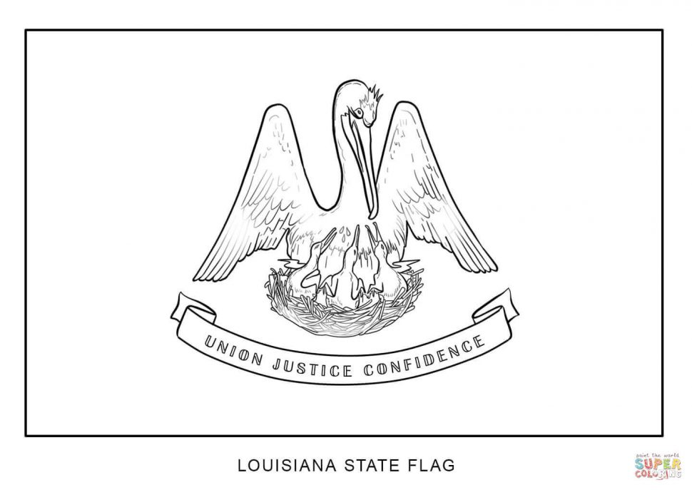 970x687 Coloring Flag Of Louisiana Coloring Page Flags The World Book