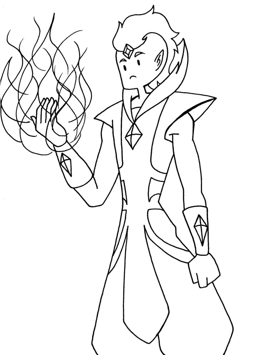 Fire Prince Coloring Book - Worksheet & Coloring Pages