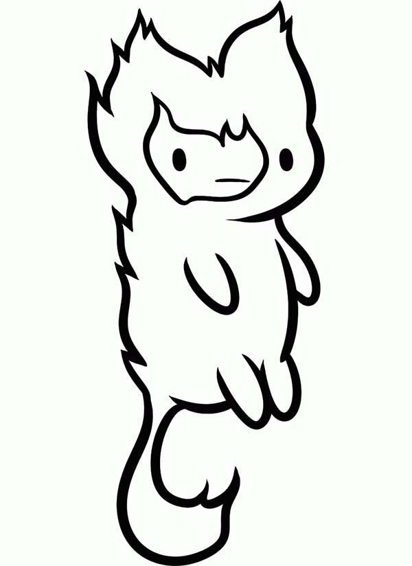 600x824 Adventure Time Coloring Pages Adventure Time Coloring Pages Flame