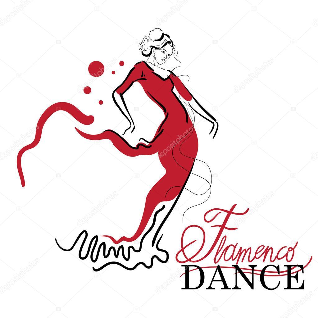1024x1024 Flamenco Dance Vector Sketches. Stock Vector Ring Ring