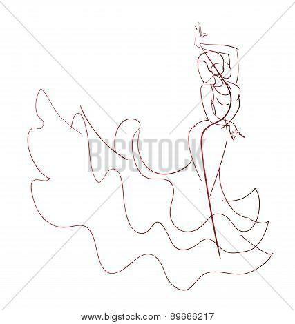 427x470 Gesture Drawing Flamenco Dancer Vector Amp Photo Bigstock