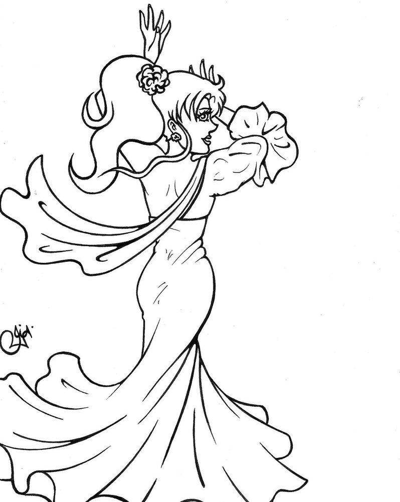 798x1001 Makoto Kino Flamenco Dancer Lineart By Jojiamystie