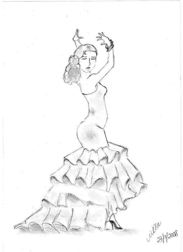 600x825 Spanish Flamenco Dancer By Luciusxseverus
