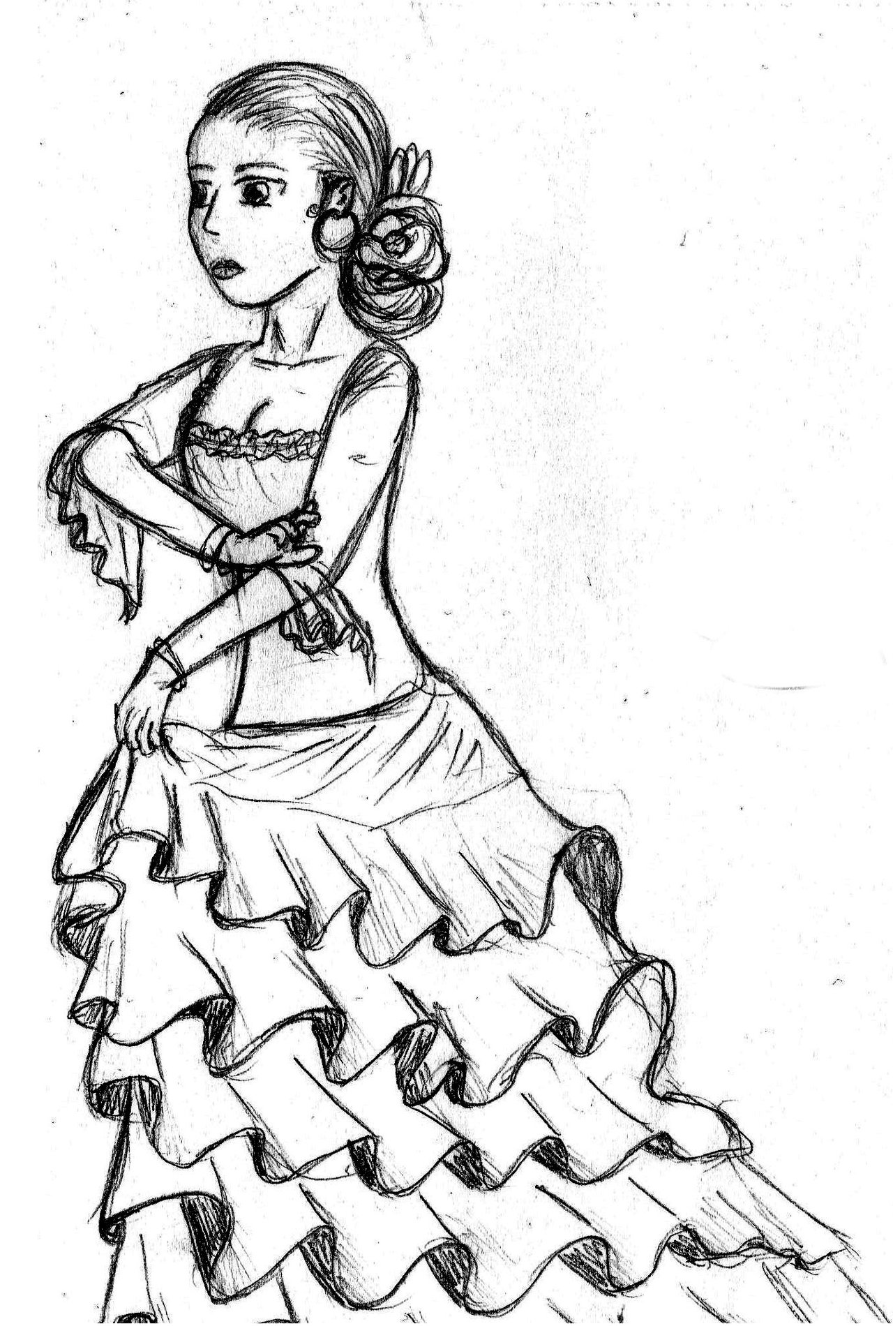 1280x1900 Flamenco By Kawii Neko Chan