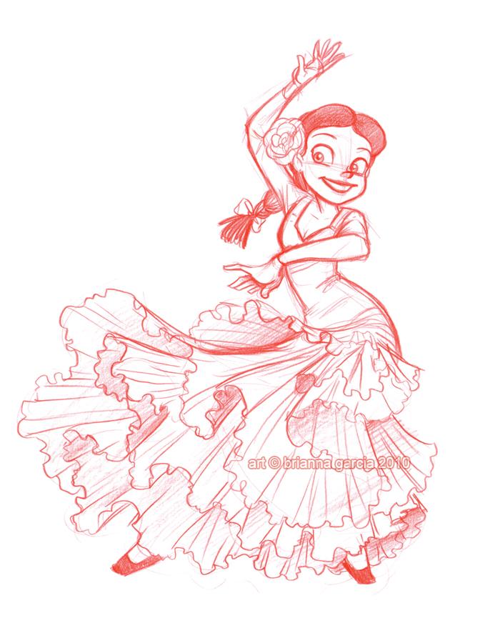 693x900 Flamenco Jessie By Briannacherrygarcia