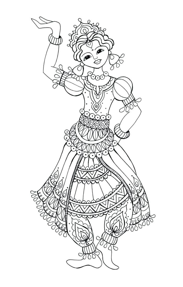 coloring pages flamenco dancers - photo#22