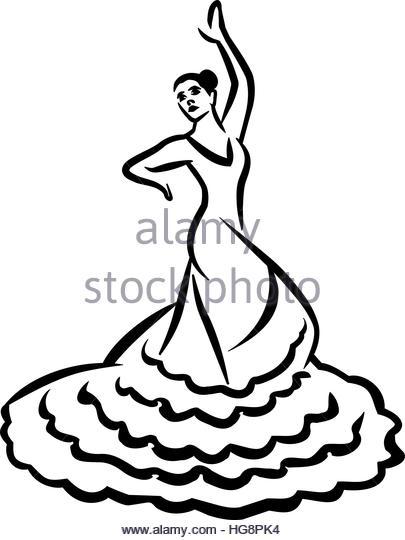 405x540 Flamenco Dancer Stock Vector Images