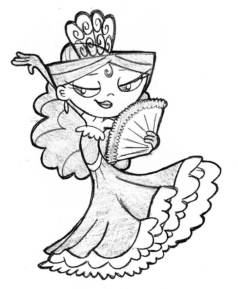 785x954 Sketch Flamenco Isa By Javidluffy