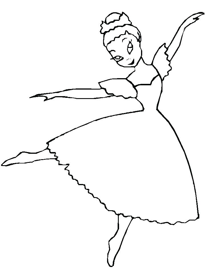 718x957 Dancer Coloring Pages Free Ballerina Coloring Pages Coloring