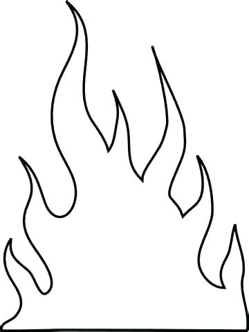 Flames Outline Drawing at GetDrawings.com | Free for ...