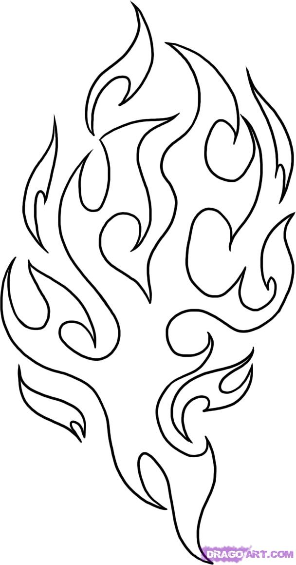 Flames Outline Drawing at GetDrawings.com | Free for personal use ...