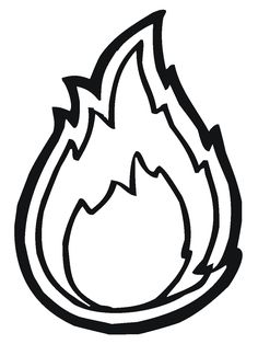 graphic about Flame Stencil Printable titled Flames Define Drawing at  Free of charge for