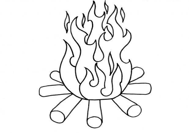 coloring pages with flames | Flames Outline Drawing at GetDrawings.com | Free for ...