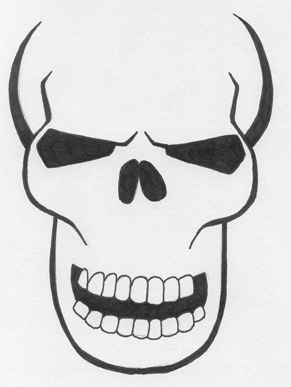 600x797 Flaming Skull Design On Behance