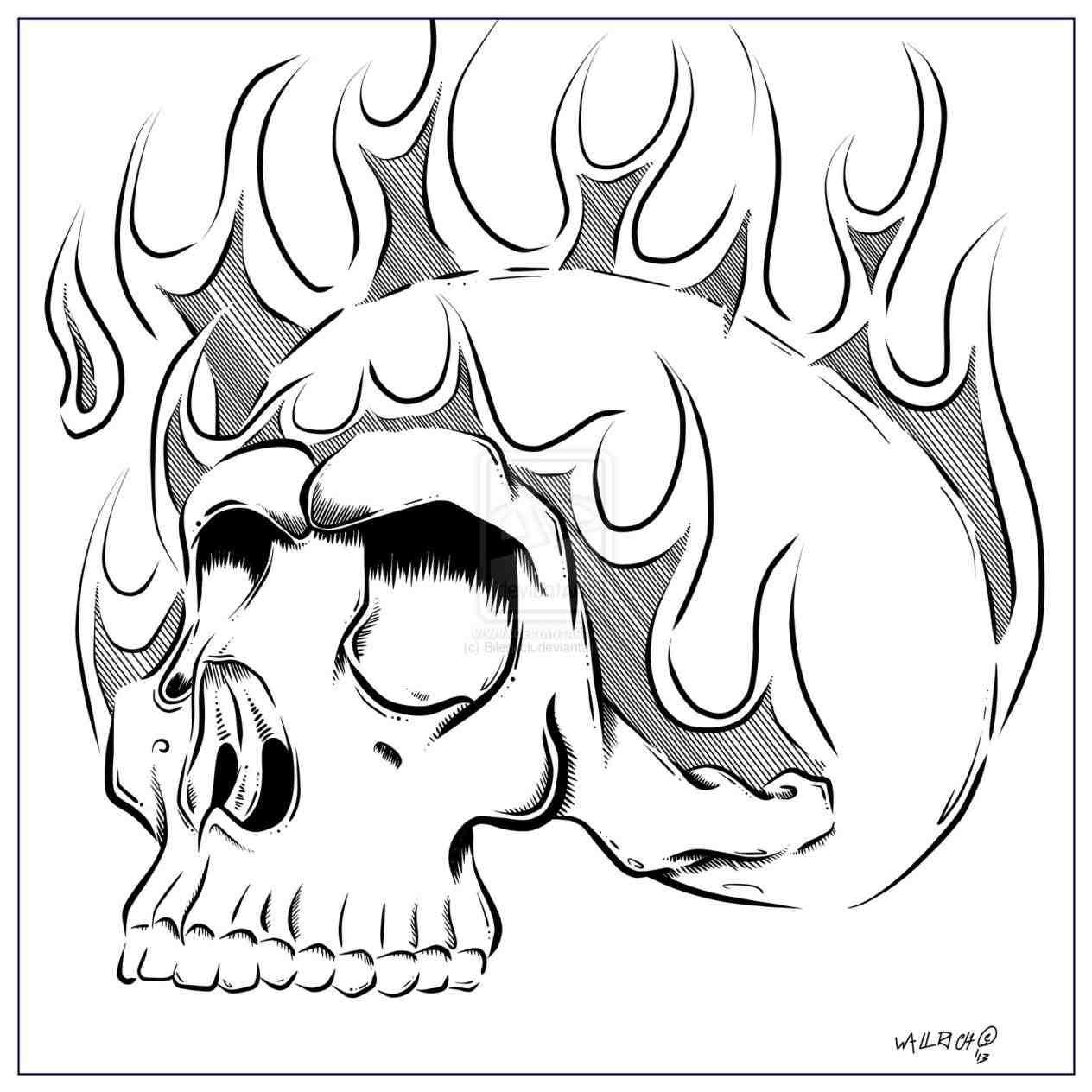 1264x1264 Flaming Skull Stock Vector Art 165624153 Istock. Undead Skull