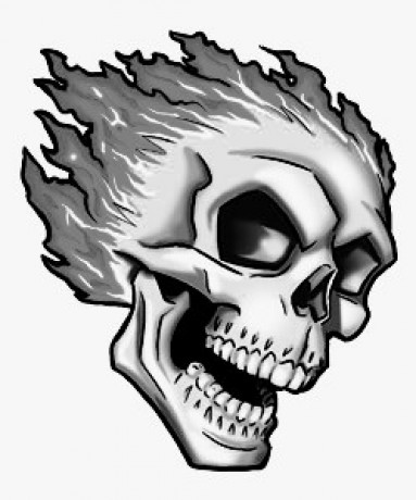 383x460 Collection Of Triple Skull Tattoo Sketch