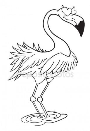 308x450 Cartoon Image Of Flamingo In Love Stock Vector Lkeskinen0