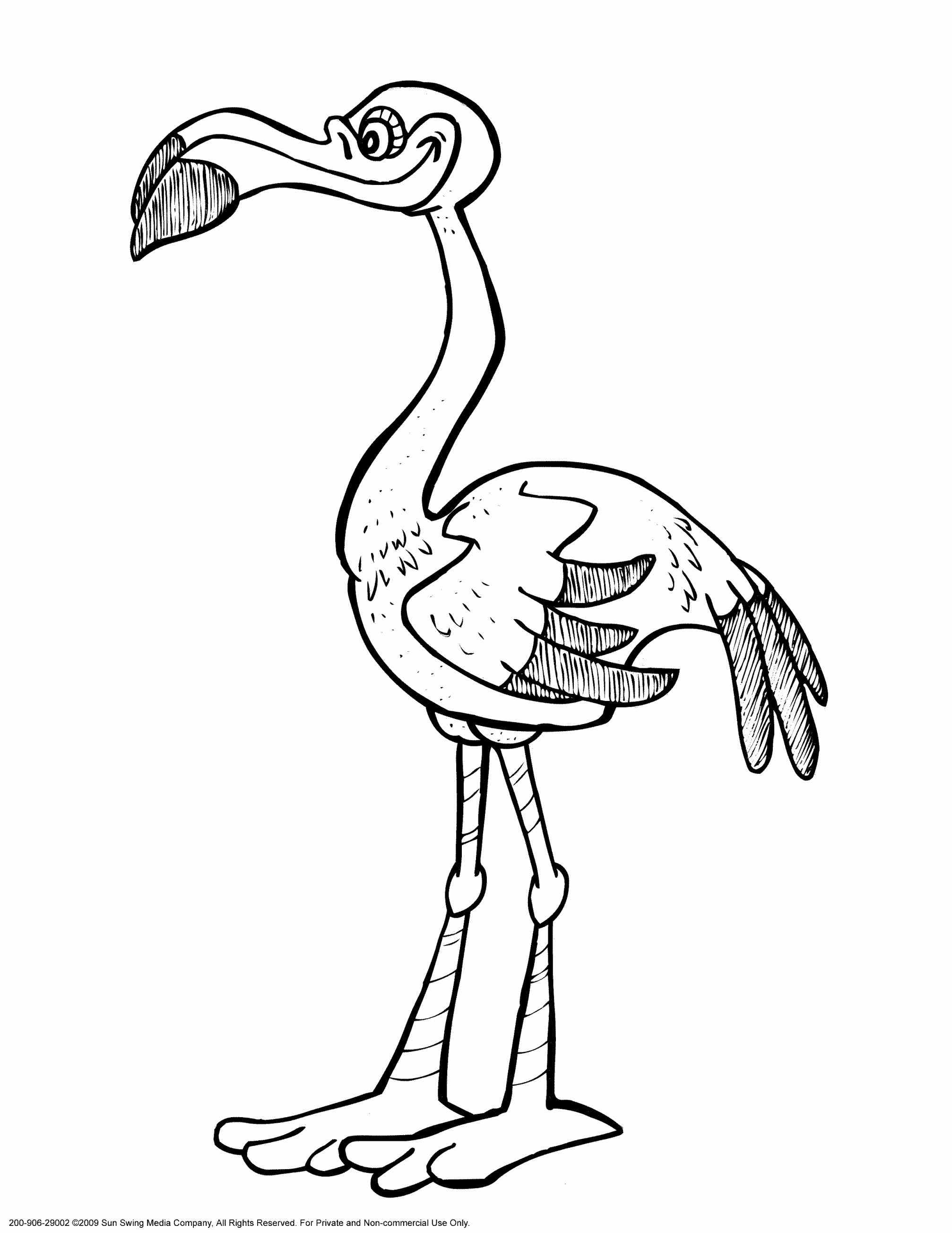 2014x2607 Flamingo Coloring Pages. Animal Color By Number Color By Number