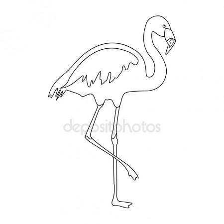 450x450 Flamingo Outline Drawing Stock Photo Viktorijareut