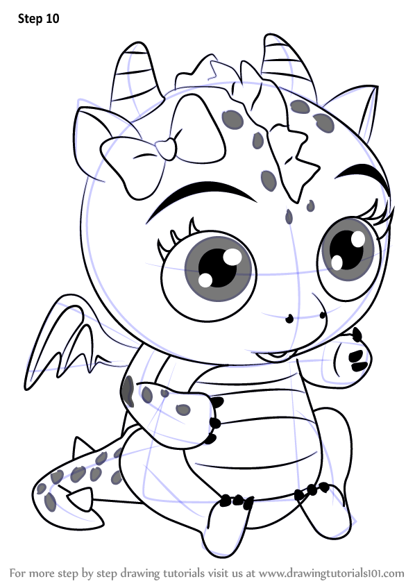 598x844 Learn How To Draw Flare From Little Charmers (Little Charmers