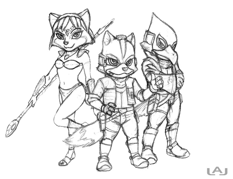 752x578 New Star Fox Team By Red Flare