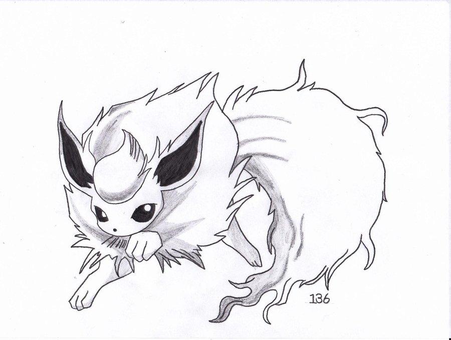 Flareon Drawing