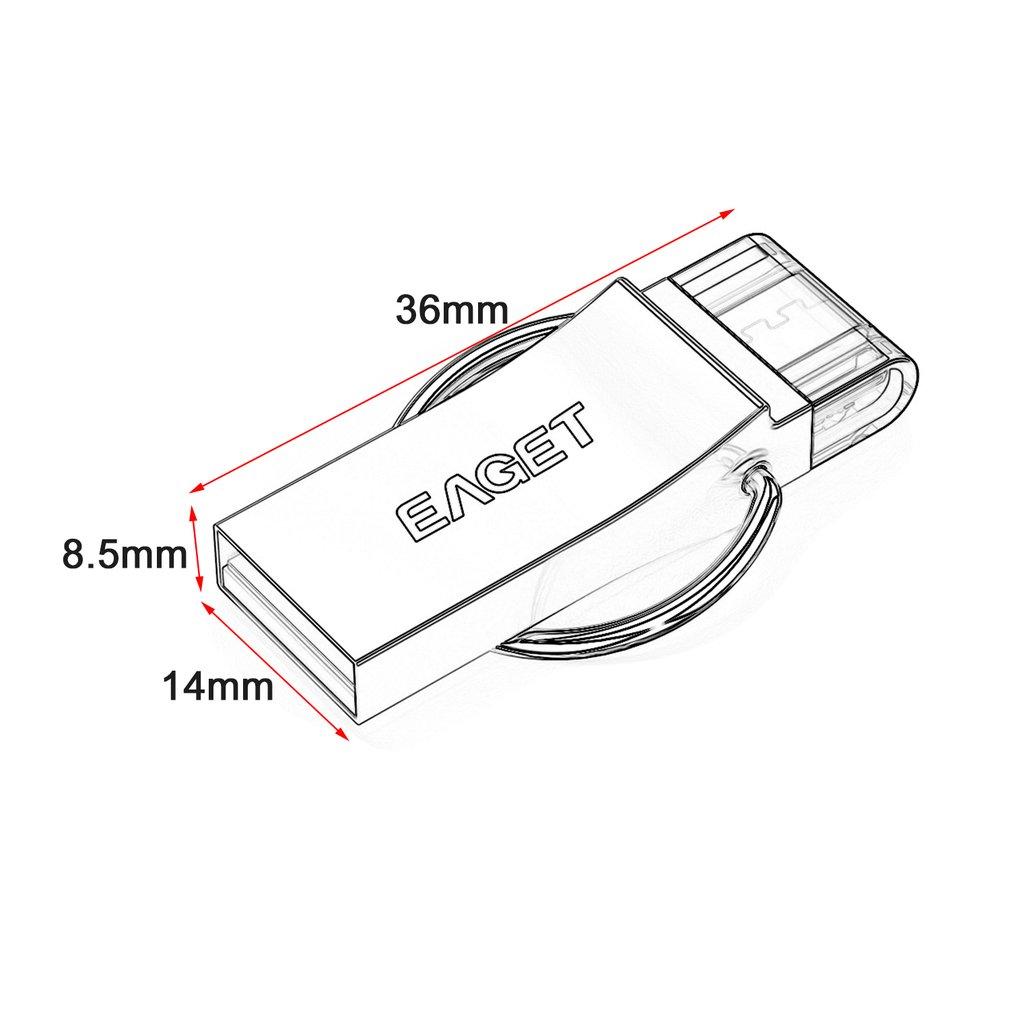 1010x1010 Eaget V90 Phone Computer Dual Purpose U Disk Usb3.0 16 32 64gb