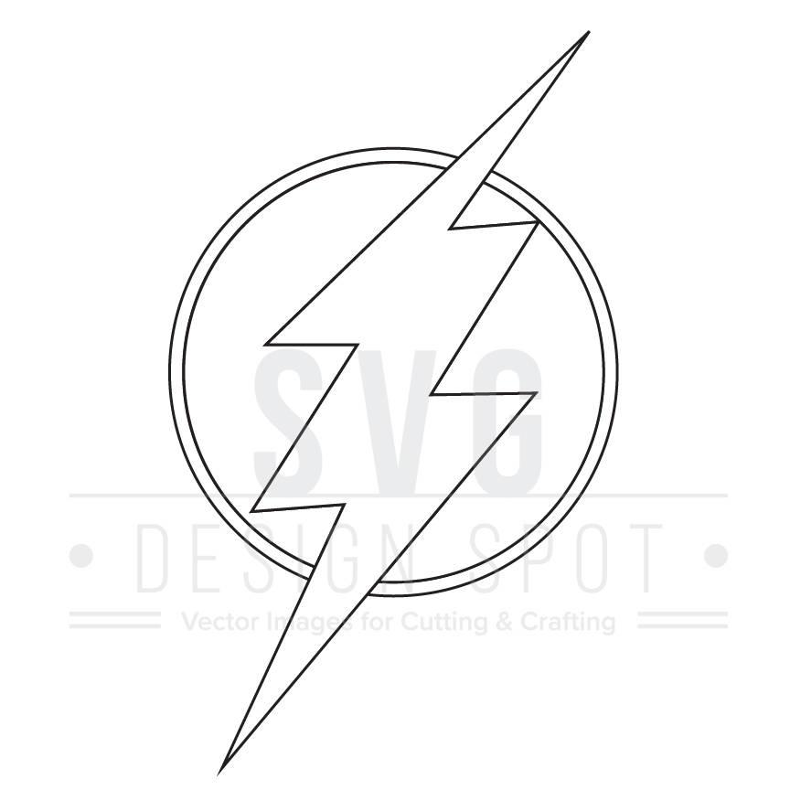 864x864 Flash Logo Svg, Dxf, Eps, Png
