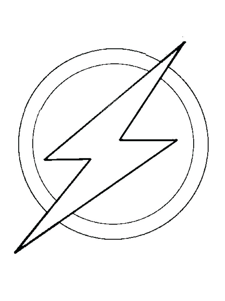 750x1000 Flash Symbol Coloring Page As Well As Download The Flash Coloring