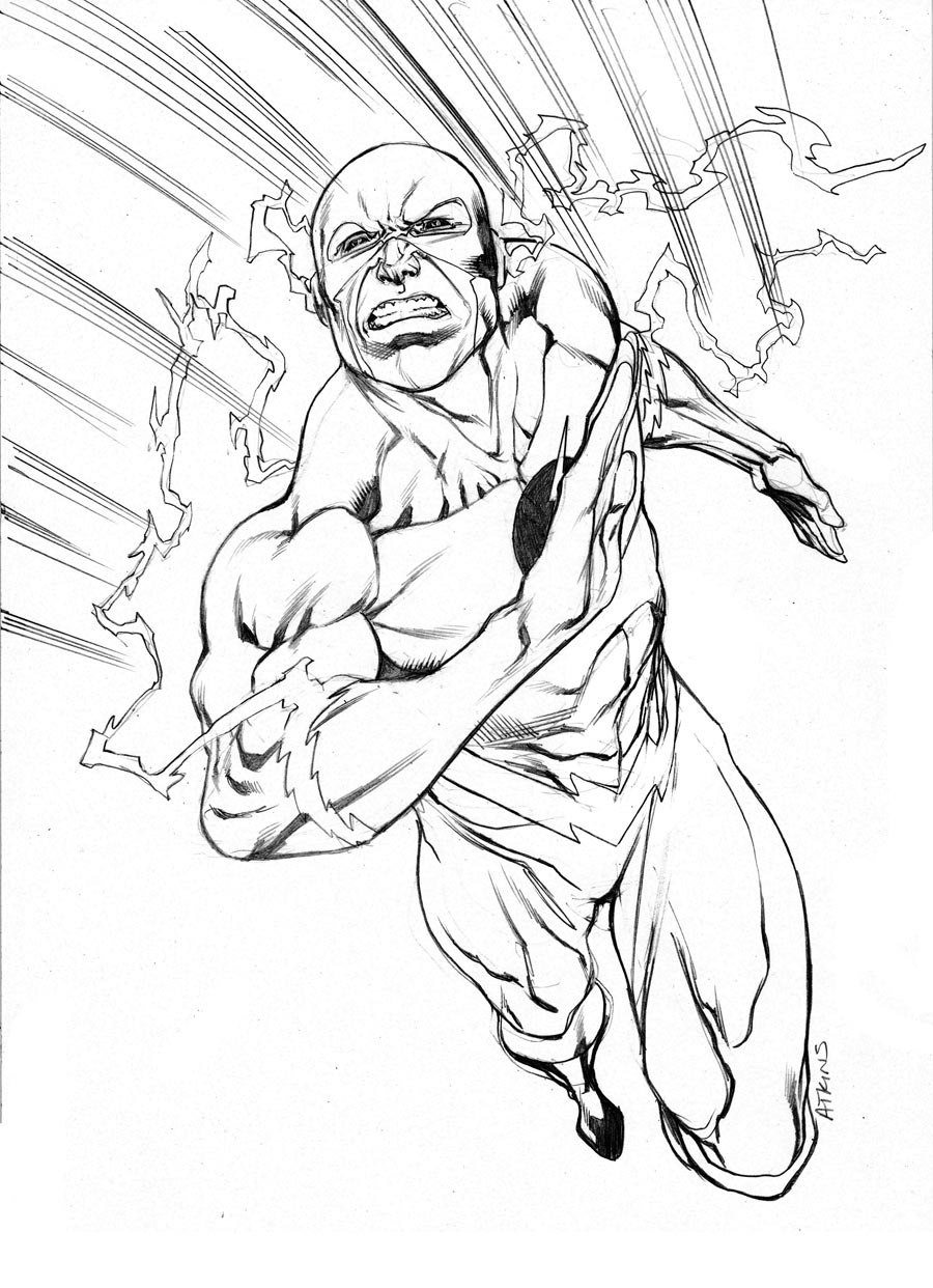Flash Running Drawing