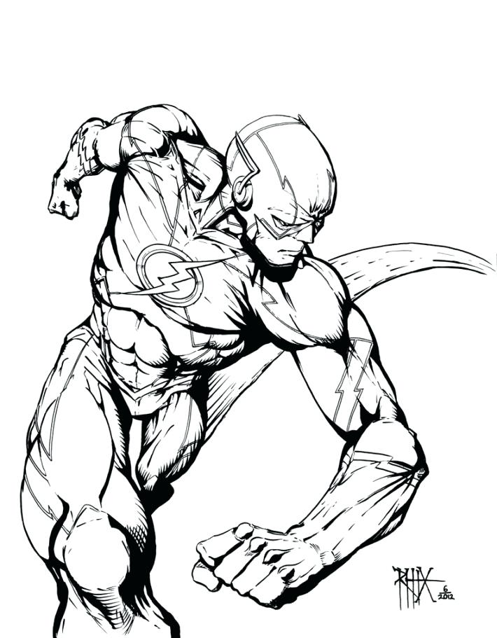 710x911 The Flash Coloring Book Plus The Flash Comic Colouring Page 662