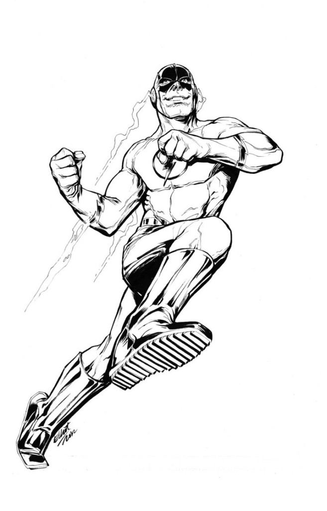 657x1024 The Flash Coloring Pages