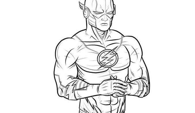678x395 The Flash Coloring Pages Kids Coloring Page