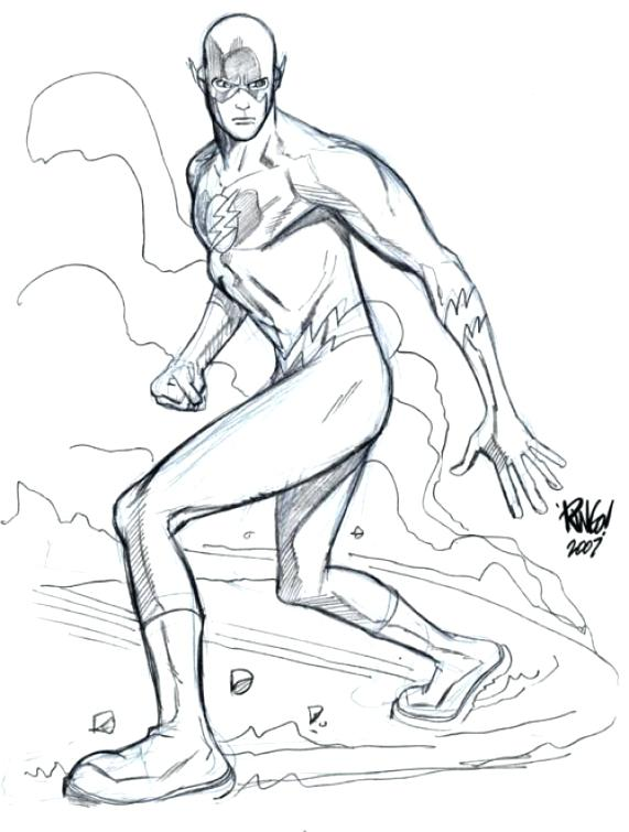 571x755 Flash Superhero Coloring Pages