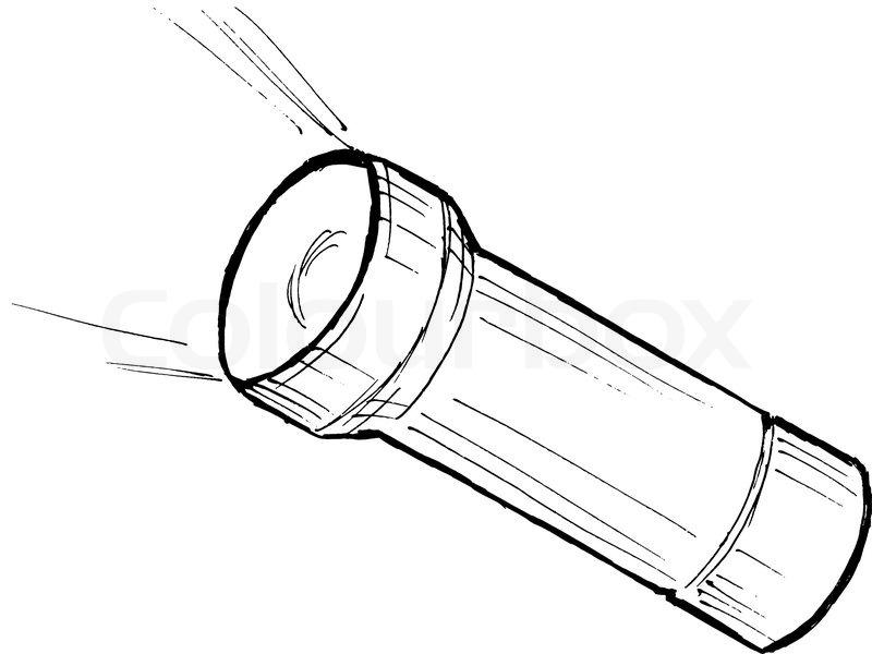 flashlight drawing at getdrawings com