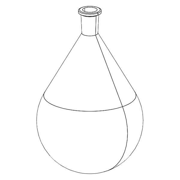 600x600 5000ml Evaporating Flask 2440 Xtractor Depot