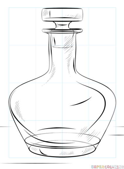 423x575 How To Draw A Bottle Step By Step. Drawing Tutorials For Kids