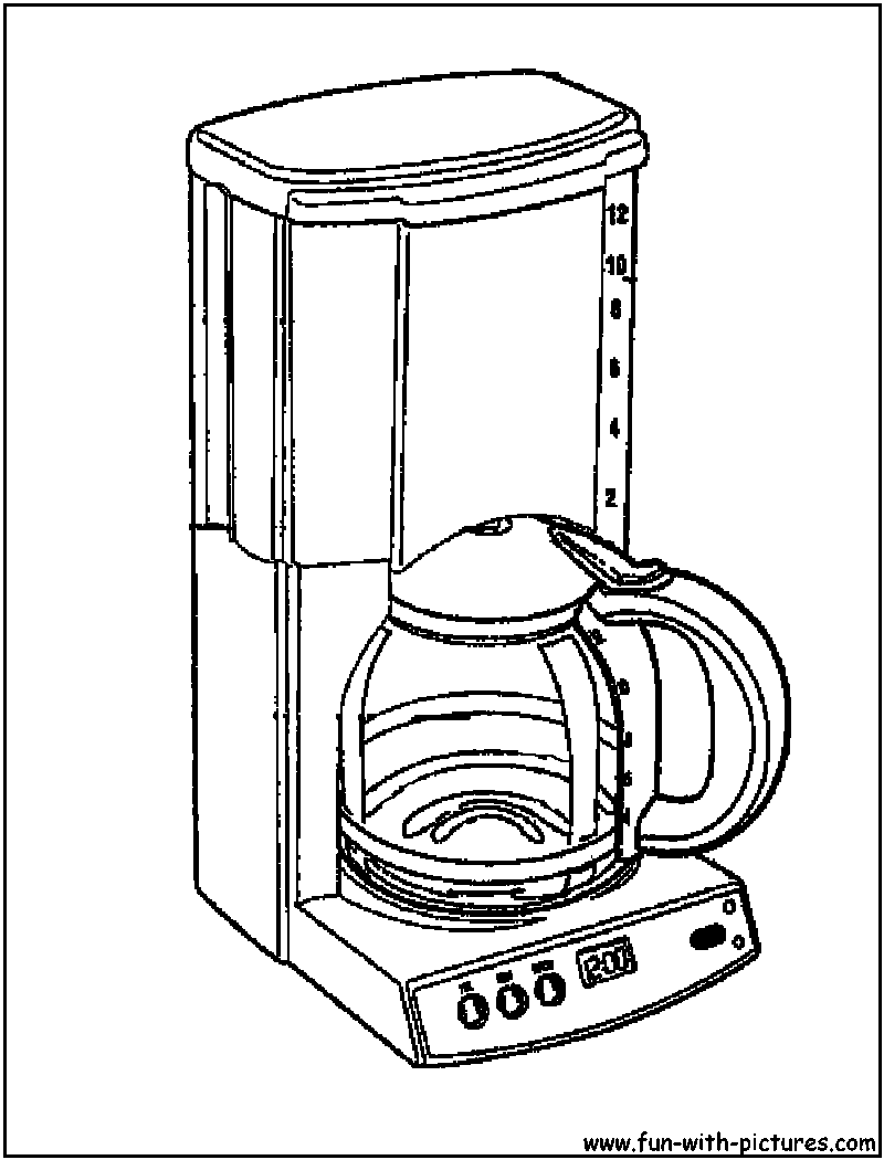 800x1050 Coffee Maker Coloring Pages Flat Screen Tv Coloring Pages