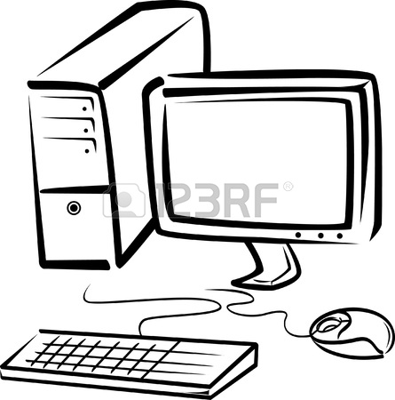 445x450 Desktop Computer Illustration Royalty Free Cliparts, Vectors,