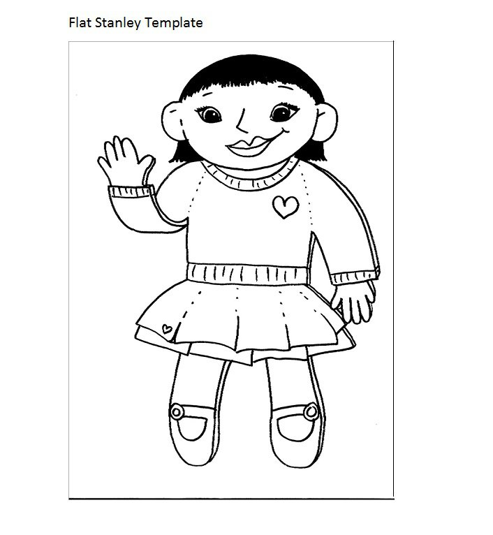 706x766 37 Flat Stanley Templates Amp Letter Examples